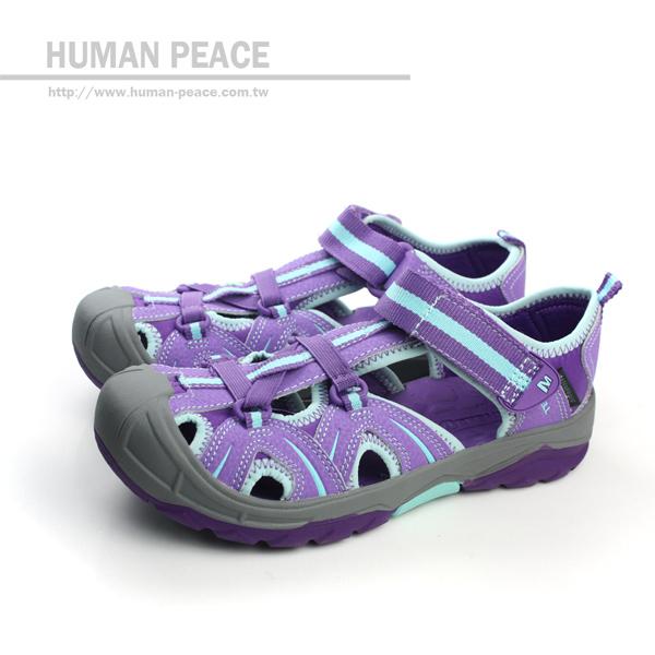 MERRELL HYDRO HIKER SANDL 魔鬼氈 童鞋 涼鞋 戶外休閒鞋 紫 大童 no022