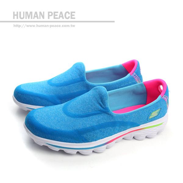 SKECHERS GO WALK 2 懶人鞋 戶外休閒鞋 藍 童 no156