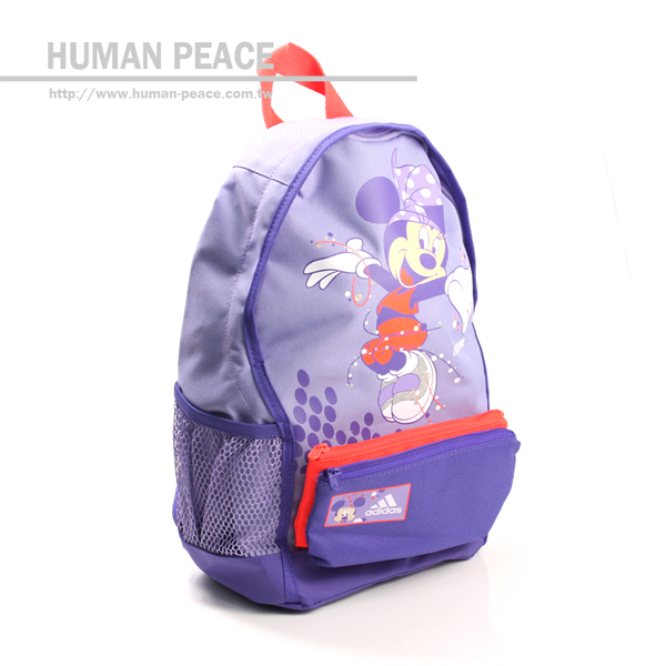 adidas minnie 後背包 帆布 大容量 兒童後背包 紫 noB15