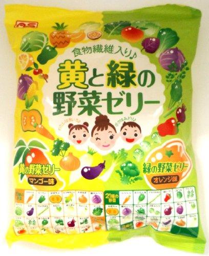 有樂町進口食品 日本原裝進口 AS 蒟蒻果凍-黃綠蔬果果凍 4905491257932