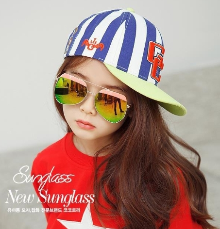 Kocotree◆特色造型鏡框弧度紫外線護目兒童成人親子款炫彩太陽眼鏡-粉色(兒童款)