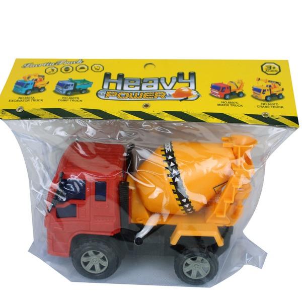 一般混泥土車 6607C 慣性工程車玩具(PVC卡紙頭)/一台入{促100}~睿