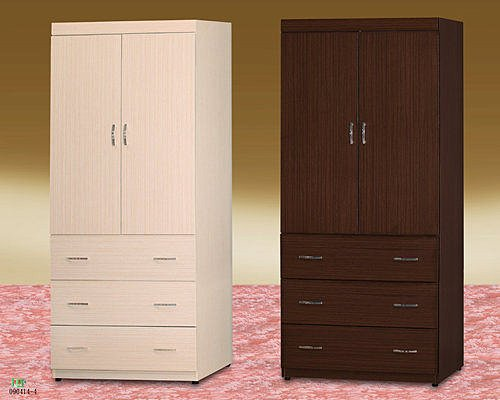 【 尚品傢俱】685-02 胡桃/白橡 3x7 衣櫥/衣櫃/收納櫃/櫥櫃~另有3*6、4*6、4*7