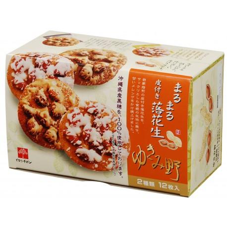 TIVON雪見野雙色落花生餅 2種類 12枚入(原味/黑糖) (156g)