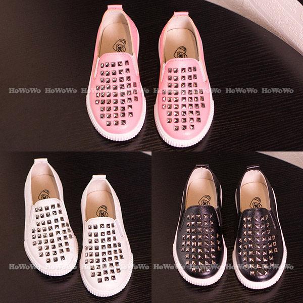 寶寶鞋 鉚釘PU學步鞋/中童鞋 公主鞋 (15.5-18cm) KL909