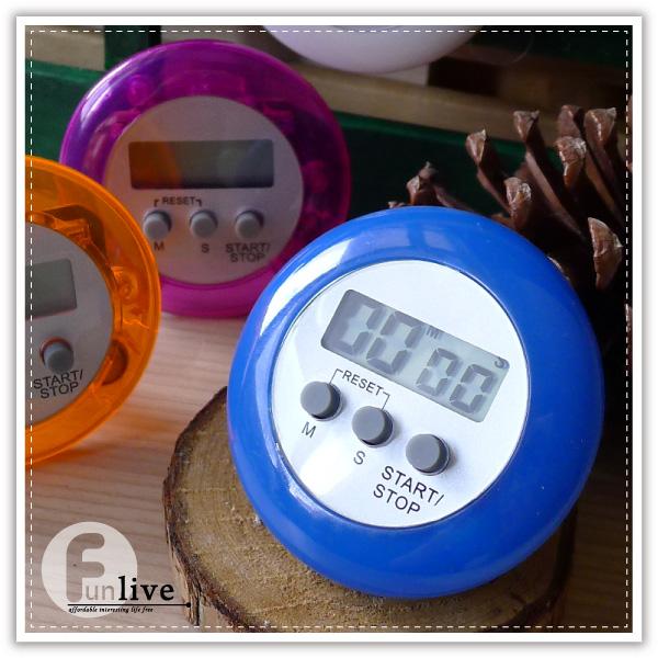 【aife life】圓型電子計時器/方型計時器/廚房料理夾子計時器/倒數計時/磁鐵/磁力/可立/可夾計時器