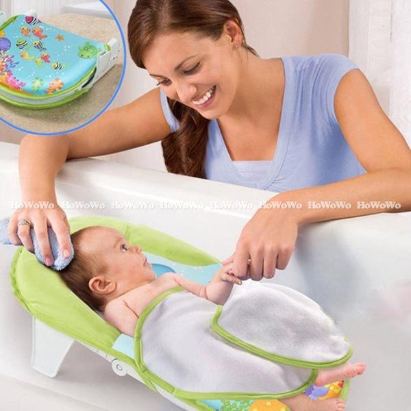 寶寶浴盆 可折疊式嬰幼澡盆 折疊式嬰兒洗澡椅 LS8031