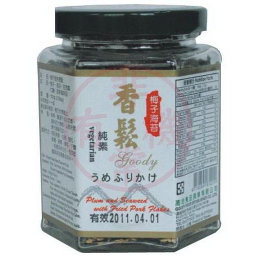 川田佳 梅子海苔香鬆 100g 原價$130-特價$119 韓國頂級三回烤竹鹽 韓國海苔 天然蔬果調味 老少咸宜