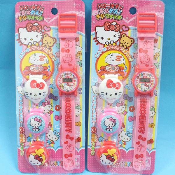 凱蒂貓手錶Hello Kitty可換錶蓋凱蒂貓電子錶KT電子錶(內附電池)/一個入{促249}~授權商品~
