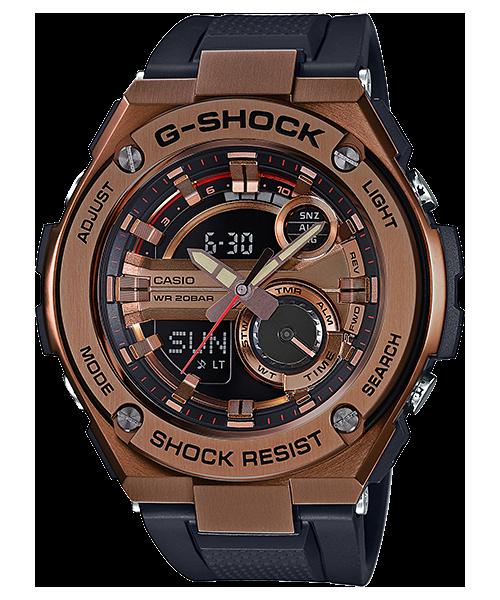 國外代購 CASIO G-SHOCK GST-210B-4A 雙顯大錶面  運動防水手錶腕錶電子錶男女錶 粗曠銅金