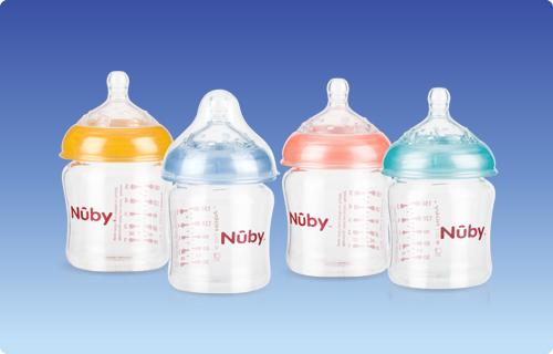 【迷你馬】Nuby 寬口徑防脹氣玻璃奶瓶(150ml) 贈送nacnac草本呵護體驗包