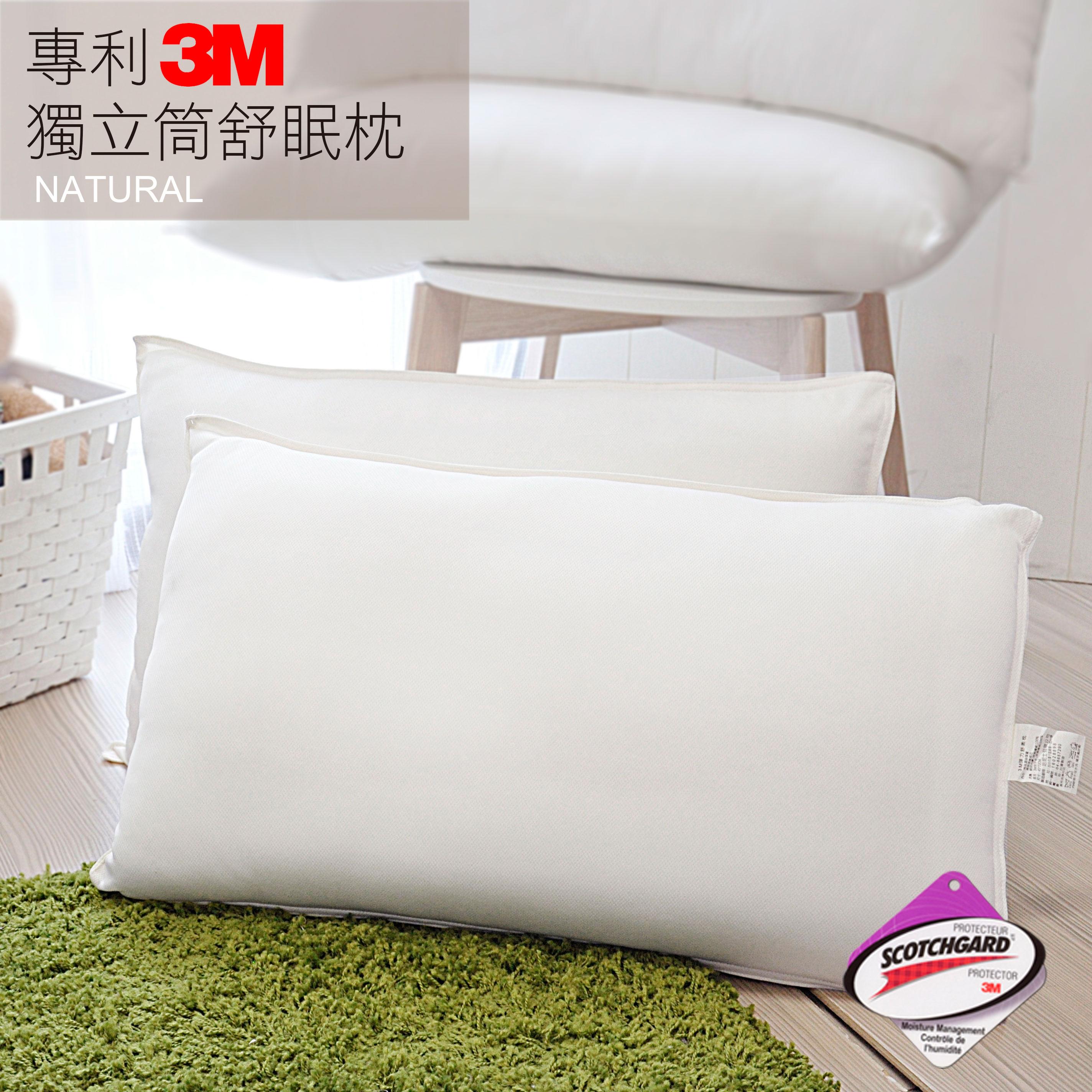 (1入)3M抗菌獨立筒舒壓枕(無附提袋)- 新款上市優惠價_HOUXURY台灣製