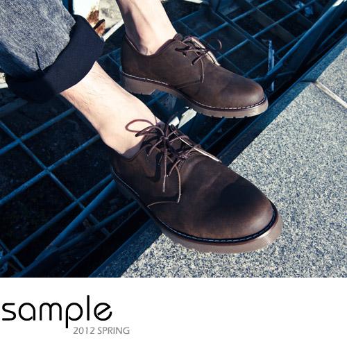 Sample【SA2229】韓國製,混色帥氣低筒三孔馬汀鞋-預購款