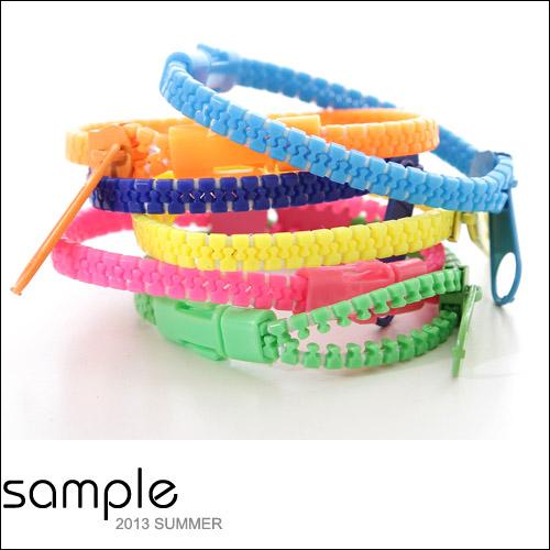 手環【Sample】螢光拉鍊造型手環【SA5222】