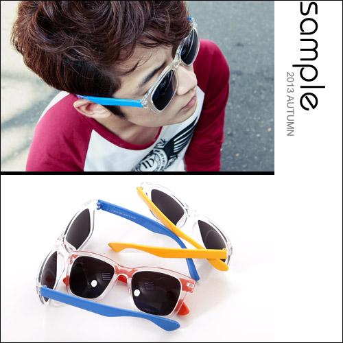 造型墨鏡【Sample】韓國製,質感透明框彩色鏡腳太陽眼鏡/墨鏡【SA5617】