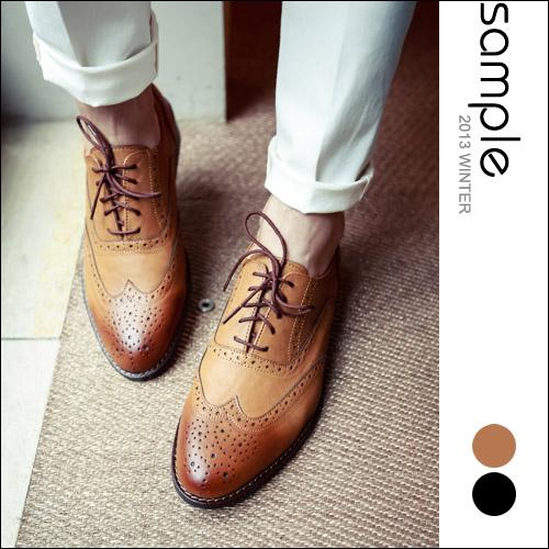 紳士【Sample】韓國製,厚跟尖頭美型雕花紳士皮鞋【SA6429】-Kevin Brown