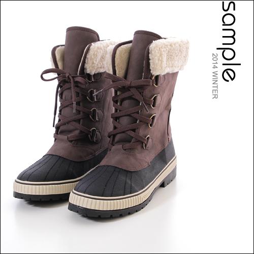 高筒【Sample】韓國製,可拆式毛全刷毛高筒獵鴨靴【SA6825】
