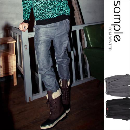 吊帶褲【Sample】韓國製,棉質鬆緊褲頭吊帶褲 吊帶可拆【SA7021】