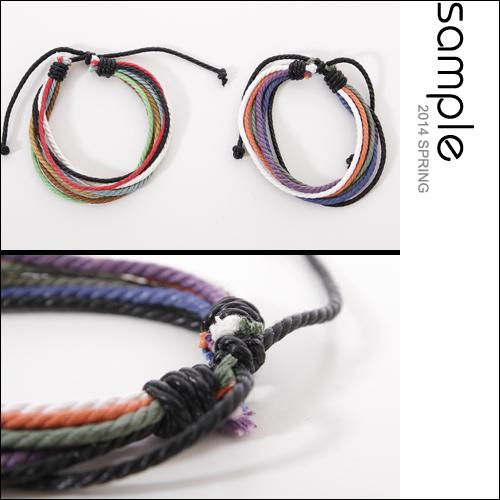 衝浪手環【Sample】彩色麻繩配色衝浪手環【AC7925】