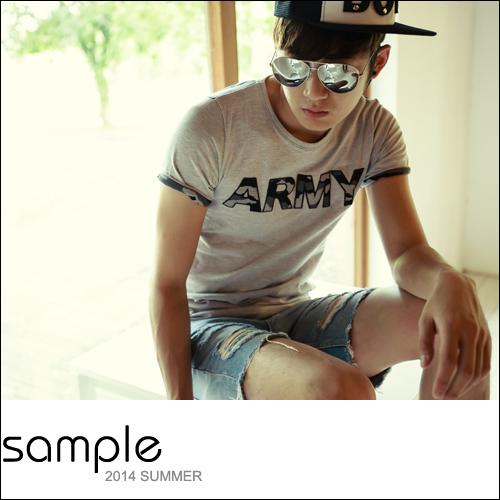 短T【Sample】迷彩拼接立體貼章ARMY短袖T恤【SA8613】