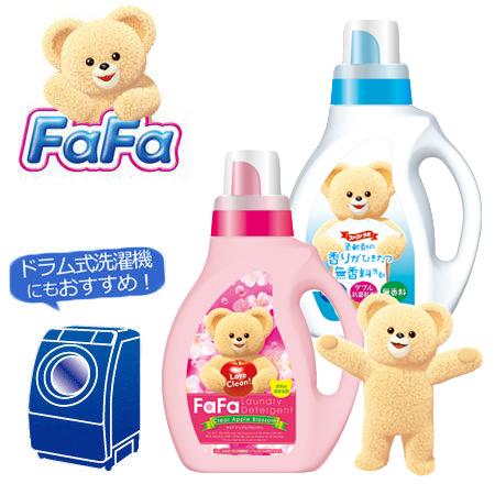 日本 Nissan Fafa小熊寶貝洗衣精 1kg (無香/蘋果花香) 衣物清潔【N201728】