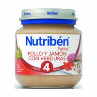 西班牙【Nutriben 貝康】寶寶雞肉醬(含火腿)+蔬菜全餐130g 【4M+】