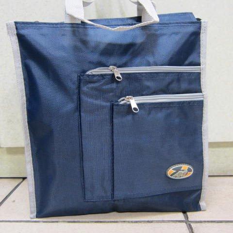 ~雪黛屋~BOLIT 才藝袋 簡單萬用手提袋 學生上學書包以外放置教具用品雨衣雨傘便當袋BL183藍