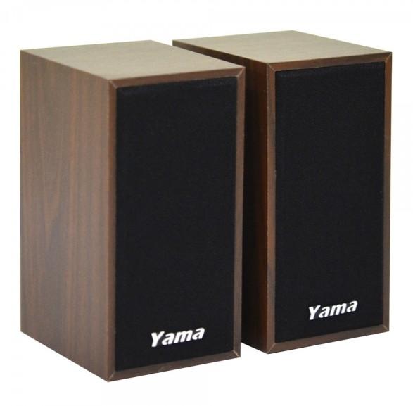 【迪特軍3C】YAMA YA-2000 USB兩件式多媒體喇叭 USB供電 3.5mm音源輸出 獨立調節器