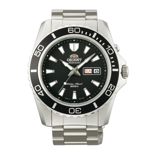Orient 東方錶(FEM75001B)經典潛水機械腕錶/黑面44.5mm