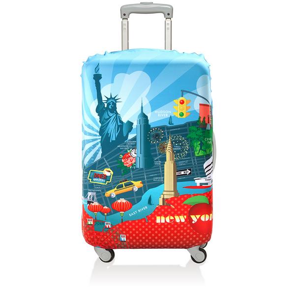 【騷包館】LOQI 德國品牌 時尚高防護防塵行李箱套(中)==紐約 LO-LMURNY
