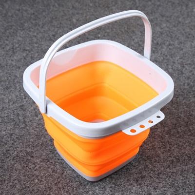 摺疊水桶(10公升)-便攜釣魚餌料加厚可洗車用2色73pp94【獨家進口】【米蘭精品】