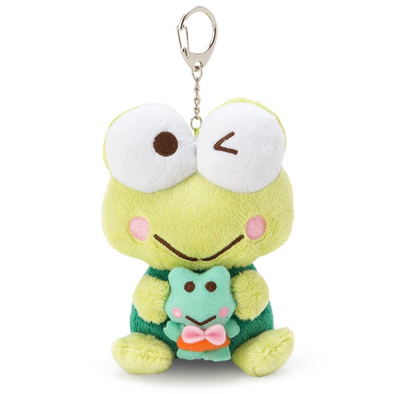 〔小禮堂〕大眼蛙 造型絨毛玩偶《S.綠.趴姿.附鑰匙圈》甜甜圈系列