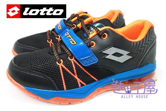 【巷子屋】義大利第一品牌-LOTTO樂得 男童雷神加長型彈力氣墊籃球鞋 [2586] 黑藍 超值價$590