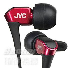【曜德★送收納盒】JVC HA-FXH10 紅 微型動圈 耳道式耳機 線夾 ★免運★