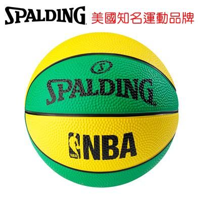 永昌文具【SPALDING】 斯伯丁 NBA No.1 迷你小球系列 SPA66994 NBA NO.1 迷你小球-黃/綠 籃球 1號 /個