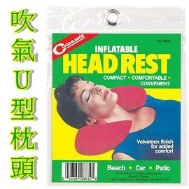 [ Coghlans ] 自動充氣U型枕頭  / 飛機枕 / 午睡枕 / 旅行護頸枕 / HEAD REST / 8832