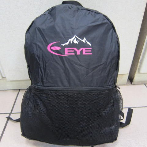 ~雪黛屋~EYE MIT 攻頂包 後背包變腰包台灣製造證耐承重量輕巧好收納可變腰包EYE086BK黑