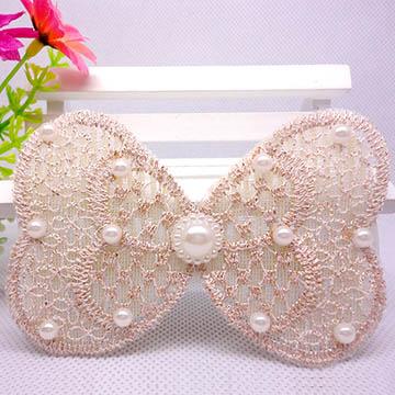 WallFree窩自在 鏤空蕾絲/珍珠/鑲鑽魔法瀏海貼片-珍珠蕾絲25
