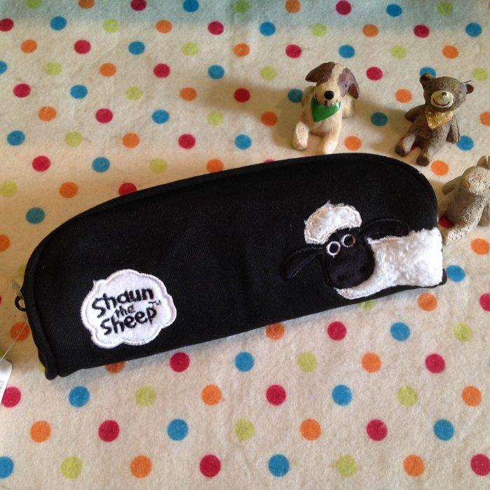 =優生活=日本原單出口Shaun the Sheep笑笑羊 立體刺繡筆袋 化妝包 收納包