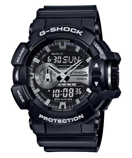 國外代購 CASIO G-SHOCK GA-400GB-1A 雙顯 運動防水手錶腕錶電子錶男女錶 黑銀