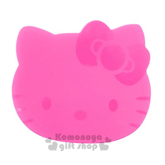 〔小禮堂〕Hello Kitty 造型矽膠印章墊《桃.大臉》章章好清晰