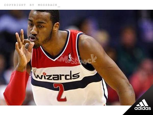 『Mossback』ADIDAS NBA John Wall 球衣 主場 巫師隊 白藍紅(男.)NO:A46255
