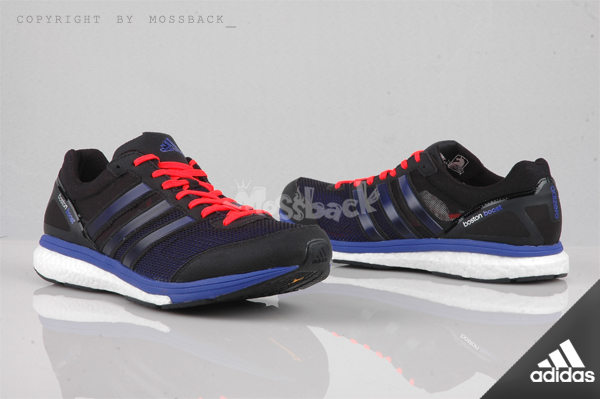 『Mossback』ADIDAS ADIZERO BOSTON BOOST 5 M 輕量 跑鞋 黑藍(男.)NO:B44009