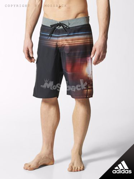 『Mossback』ADIDAS CITY SHORTS 短褲 城市日出 黑色(男.)NO:S17812