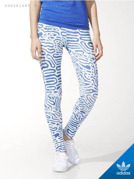 『Mossback』ADIDAS BERMUDA LEGGINGS 緊身褲 藍白(女.)NO:S19996