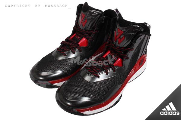 『Mossback』ADIDAS J WALL J 籃球鞋 高筒 避震 黑紅(女.)NO:S84207