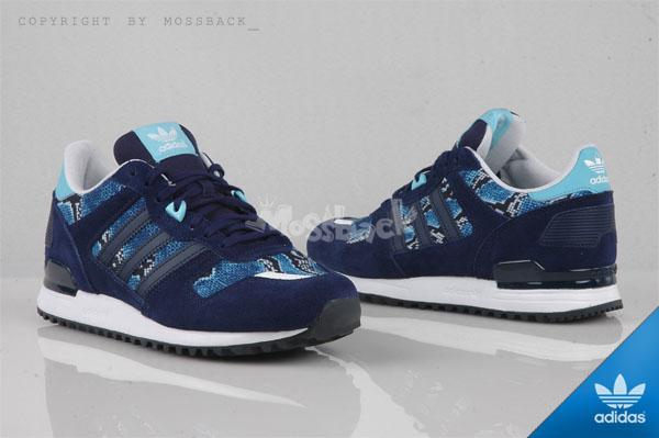 『Mossback』ADIDAS ZX 700 W 麂皮 蛇紋 復古 深藍(女)NO:B25715