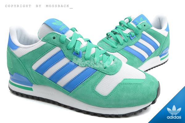 『Mossback』ADIDAS ZX 700 經典 復古 麂皮 慢跑鞋 白綠藍(男)NO:M19396