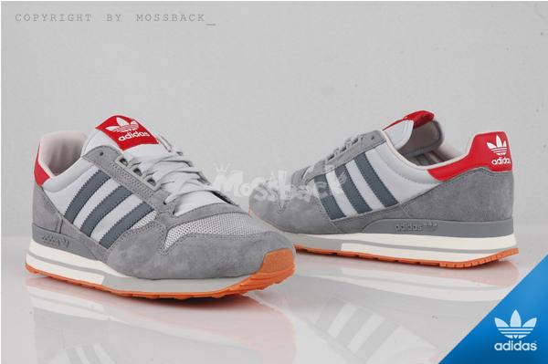 『Mossback』ADIDAS ZX500 OG W 麂皮 復古 慢跑鞋  紅灰淺藍(女)NO:S77321