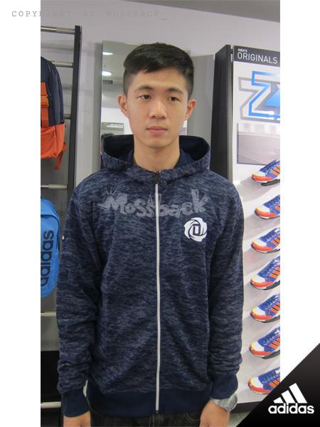 『Mossback』ADIDAS ROSE 迷彩  羅斯 籃球 運動 連帽 外套 深藍(男)NO:S92360